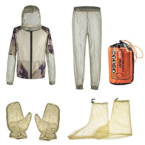 humorous Mosquito Suit Safari vestiti secchio rete nascosta con cappotto guanti pantaloni protezione da insetti insetti ape zanzara Gnats per campeggio ciclismo pesca escursionismo nero
