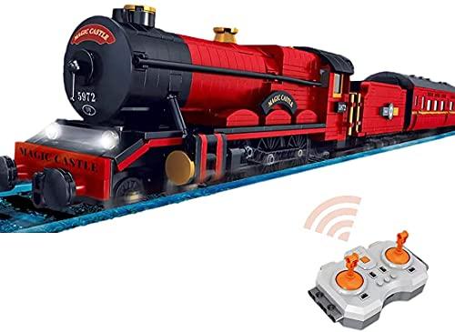12010 Magic City Railway Rc Tren Ladrillos Modelo con Chimenea de Luz de Música, MOC DIY Pequeña Construcción de Particle Juguete Compatible con Lego City (más de 2086 piezas)