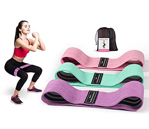 CosyInSofa Set di Fasce di Resistenza, Anelli per Esercizi in Tessuto a 3 Livelli, Fasce per Modellare il Corpo per Donne e Uomini, Fascia Fitness per Allenamento i Glutei, Yoga, Pilates(Set 3 Colori)