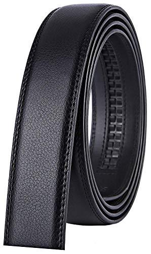 X XHtang Gürtel Herren Automatik Gürtel mit Automatikschließe-3,5cm Breite, Z.schwarz Gurt (Keine Schnalle), Länge 140cm Geeignet für 44-49 taille