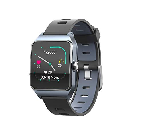 Smartwatch Funker T9 TRACK MASTER Orologio sportivo da uomo o donna, impermeabile 5 ATM, con schermo touch a colori, monitor di attività con GPS e monitor del ritmo cardiaco e della fatica.