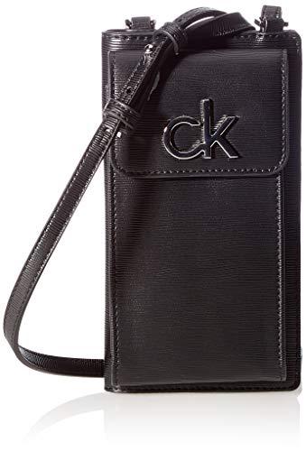 Calvin Klein Damen Phone XBODY Pouch Reisezubehör- Reisebrieftasche, Black, One Size