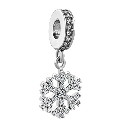Lifequeen Jewellery Christmas Snowflake Charms Snowman Beads for Bracelets