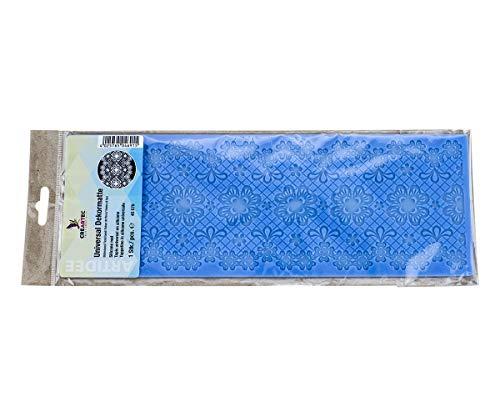 CREARTEC - universele decoratiemat/sjabloon - bloemenband - voor het maken van gedetailleerde, sierlijke motieven met bijv. paperpasta of zeep - 310 x 110 mm - Made in Germany