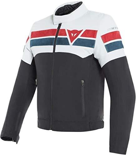 Dainese 8-Track Tex - Chaqueta textil para moto, color negro, blanco y rojo 54