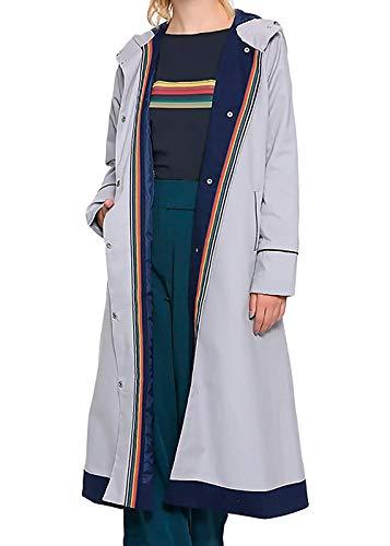 Damen Lederbekleidung Ultimate Prime Collection Jacken, Mäntel und Westen Gr. XS, Grey - Doctor Who Coat