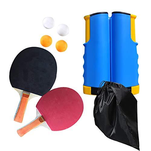 Tischtennisschläger Tischtennisschlaeger Tischtennis Set Ping Pong Schläger Tisch Tennis Tischtennisnetz Tischtennisnetze Tischtennisbälle Tischtennistisch Indoor Tischtennisschläge Tragbare Tasche