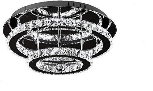 Lampadario a LED in cristallo 36 W Diamante stile lucentezza Dimmerabile Lampada a sospensione Illuminazione Lampadario di cristallo