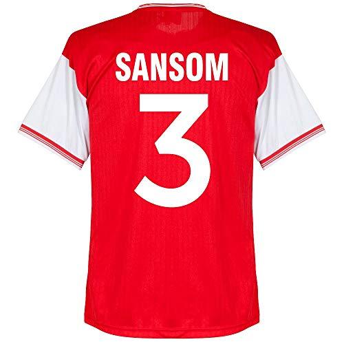 Score Draw Arsenal Home Centenary Sansom 3 Retro Trikot 1984-1985 (Retro Filz-Spielerbeflockung) - XL