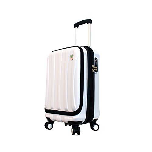 Mia Toro Italy Tasca Fusion Hardside Spinner Carry-on, White, One Size