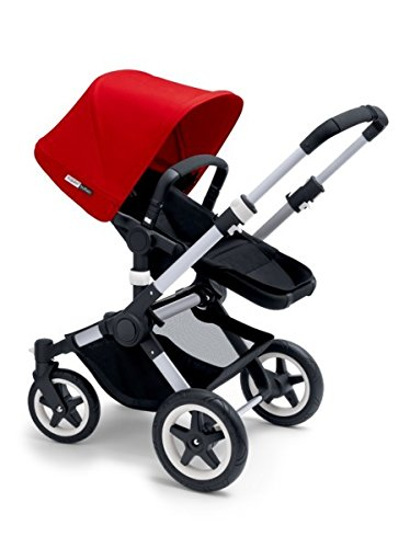 Check Out This Bugaboo 2015 Buffalo Stroller Complete Set in Aluminum and Black (Red)