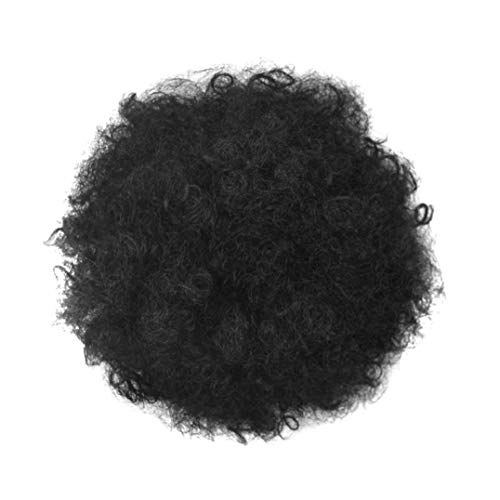 Naicasy Ponytail postiche Afro Puff Noir Kinky Curly Chignon synthétiques Postiches pour Les Femmes