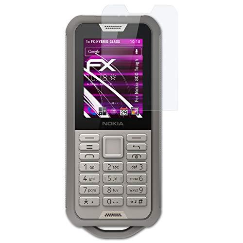 atFolix Glasfolie kompatibel mit Nokia 800 Tough Panzerfolie, 9H Hybrid-Glass FX Schutzpanzer Folie