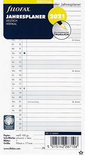Filofax Kalendereinlage Personal Jahresplaner vertikal (deutsch)2021