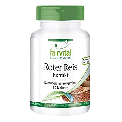 fairvital - Red Yeast Rice Extract - 3% Monacolin K - In Pure Form - 60 Tablets by fairvital