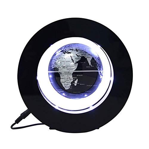 WLJBD Globos para niños, levitación magnética Globo Flotante O Forma Mapa del Mundo con Color DIRIGIÓ Interruptor de Toque Ligero Anti Gravedad Globo para niños Año Nuevo