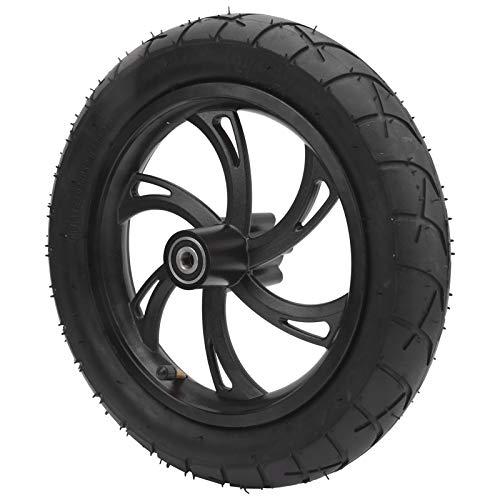 Ong Neumático con Cubo de Rueda, neumático de Goma para Scooter, neumático de 12 Pulgadas, neumático de Repuesto, neumático de Scooter, Rueda con Buen Efecto de absorción de Impactos para