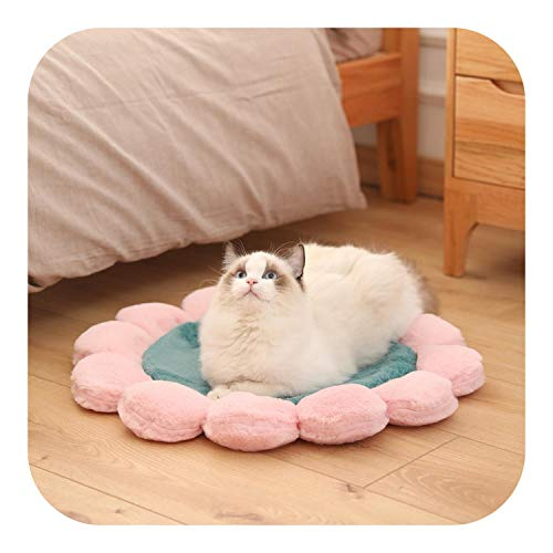 Lick Mats Dogs, Pet Kennel Dog House Sofa Bed Sleeping Washable Cat Beds Mat For Large Small Medium Bulldog Mats Dogs Plush Supplies-Pink-60CM