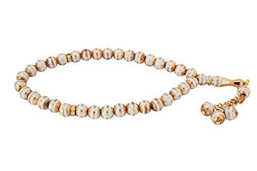 Remi Bijou Gebetskette - Tesbih Tasbih Misbaha Subha 33 Perlen - Goldene Farbe