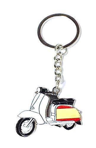 Llavero Vespa Lambretta Bandera de España   Para Guardar y Tener recogidas las Llaves   Porta llaves Original y Práctico   Organizador de llaves Compacto