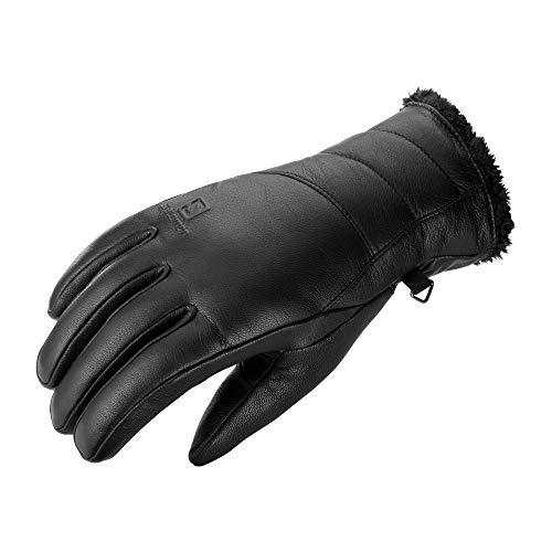 Salomon Damen Leder-Handschuhe NATIVE W, Schwarz, Gr. L, LC1183700