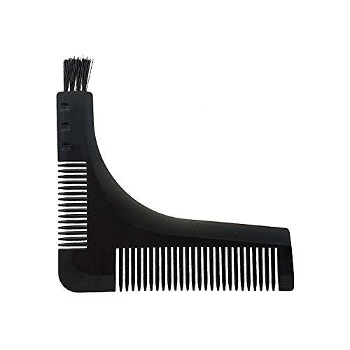 Demarkt Peigne Barbe Pochoir Peigner Moustache Outil Soin Entretien Barbes Pour Façonner Peigner Lignes Parfaites Cadeau Idéal Pour Tous Barbus Fête Pères NoirA 1PC