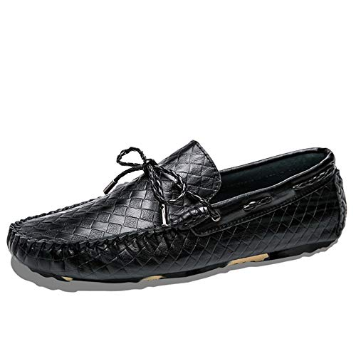 Zapatos de barco casuales y cómodos Hombres de los holgazanes for los zapatos Comfort Barco Ocio ocasionales atan for arriba la conducción zapatos for caminar elegante clásico patrón de cuadrícula sup