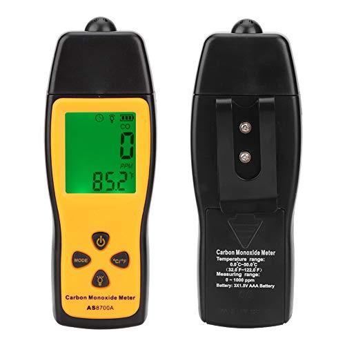 Gas-Analysegerät, CO-Gas-Tester, tragbar, Kohlenmonoxid-Messgerät für den Innen- und Außenbereich, mit Messbereich von ca. 0 bis 1000 ppm