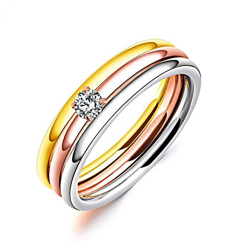 lfwzy YANRR Ladies ring simple ring thin line ring end ring index finger ring