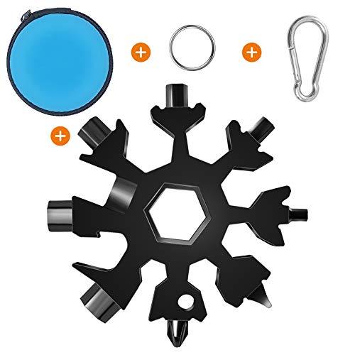 Schneeflocken Multitool, Fahrrad Gadget,Outdoor Camping Gadgets, Schlüsselanhänger Werkzeug, Tragbarer Schraubendreher, Kleine Geschenke für Männer.