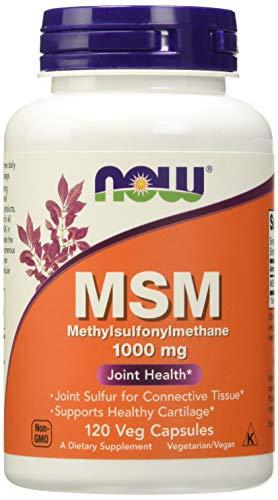 NOW Supplements, MSM (Methylsulfonylmethane) 1,000 mg, Joint Health*, 120 Veg Capsules