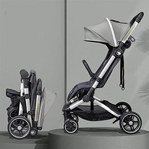 HZPXSB Cochecito de bebé Sentado y Mentira Super Light Carrito Plegable para...