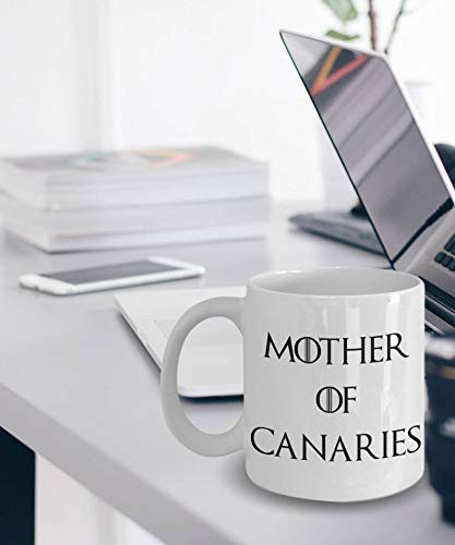 N\A Taza Canario - Aves Canarias - Regalos Canarios - Madre De Canarias - Madre De Dragones - Regalo para Canarios