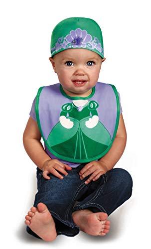 Disguise Baby Girl's Disney The Little Mermaid Ariel Bib and Hat, Green/Purple, 0-6 Months