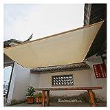 GHHZZQ Toldo Vela De Sombra Red De Protección Solar Balcón Patio Plantas Suculentas Engrosamiento del Cifrado Aislamiento Vela de Sombra Solar (Color : Beige, Size : 1x2m)