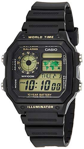 [カシオスタンダード] 腕時計 AE-1200WH-1B 逆輸入品
