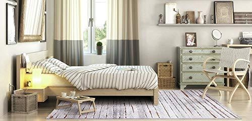 Wecon Home Woodland Moderno Marca Alfombra, Polipropileno y poliéster, marrón, 150x 80x 1.3cm
