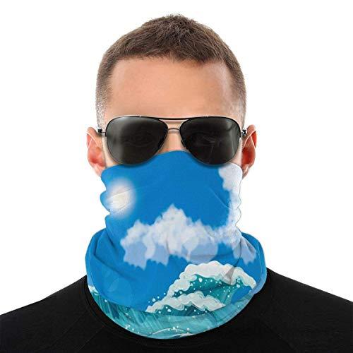 Lsjuee Ocean-Wave Papier Unisex Multifunktionale nahtlose Bandana Gesichts Hals Gamasche Kopfbedeckung Tube Schal Weiß