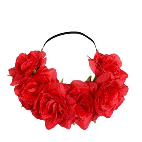 CAOLATOR.Tocado Flor Nupcial Corona Guirnalda Nupcial Tocado Diadema Corona de la Boda...