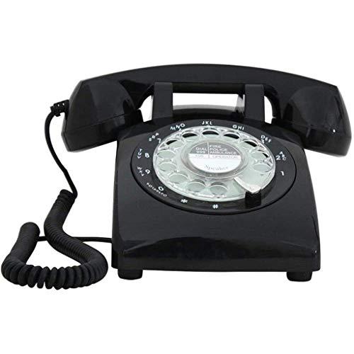 VERDELZ Teléfono Giratorio Clásico Pasado De Moda, Teléfono Retro Giratorio, Antiguo Hotel De Oficina En Casa, Timbre Fijo De Metal Fijo