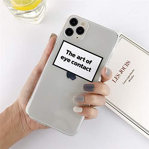 HNZZ Tmrtcgy Funda telefónica de la Etiqueta Transparente de Silicona para iPhone 12 Pro Mini 11 Pro MAX X XR XS MAX 7 8 Plus TPU Suave de TPU (Color : 7, Size : Iphone7Plus 8Plus)