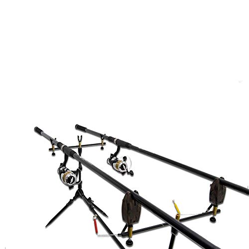 Deluxe Complete Full Carp Fishing Set up With 2x Rods Reels Alarms Tackle & Bait
