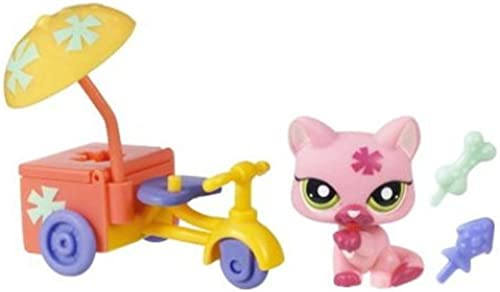 Littlest Pet Shop - Pets on the go -  1846 Rosa Katze mit Dreirad - OVP - Hasbro