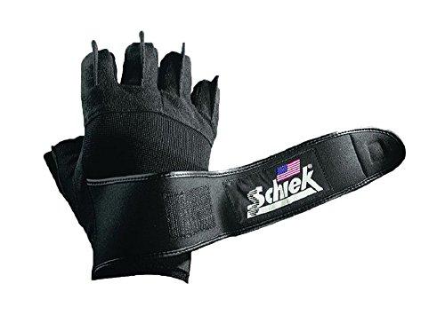 Schiek Sports Handschuhe mit Handgelenkbandage Platin Serie Modell 540, Gr. S