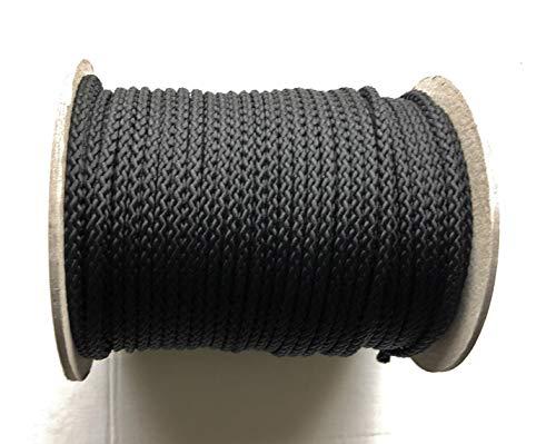 Viva Nature 50m Rolle 5 mm Polypropylen-Seil PP-Seil Flechtleine Reepschnur Tau-Werk Festmacher Schnur Kordel (schwarz)