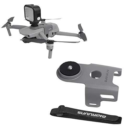 Linghuang Cámara de vídeo soporte para DJI Mavic Air 2 drones con tornillo de 1/4 pulgadas, adaptador para GoPro Hero 8/7/6/5/DJI OSMO Action/Insta360 One X cámara Accesorios