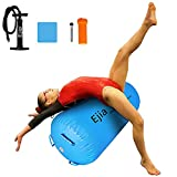 EJIA Air Roller, Back Handspring Aid Trainer Inflatable Gymnastics Equipment Tumbling Training Air Barrel Bouncy Gym Balance Cylinder with Pump for Home / Cheerleading / Daughter Gift