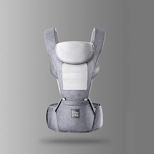 RUIBZTZ Portabebés Ergonómico, Suave, Transpirable Y Cómodo, Portabebés Ajustable para Recién Nacidos, para Envolver A Recién Nacidos En Todas Las Estaciones,Gris