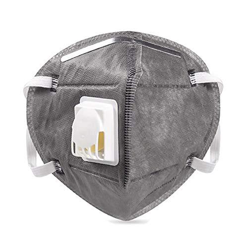 ViTho [25 Stück] KN95 Maske | Staubmaske | Atemschutzmaske mit Ventil | Mundschutz mit Ventil gegen Staub, Pollen, Abgase, Luftverschmutzung