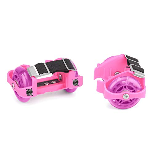 Xootz Heel Wheel Roller Skates, Attachable Shoe Trainer Wheels for Kids,...